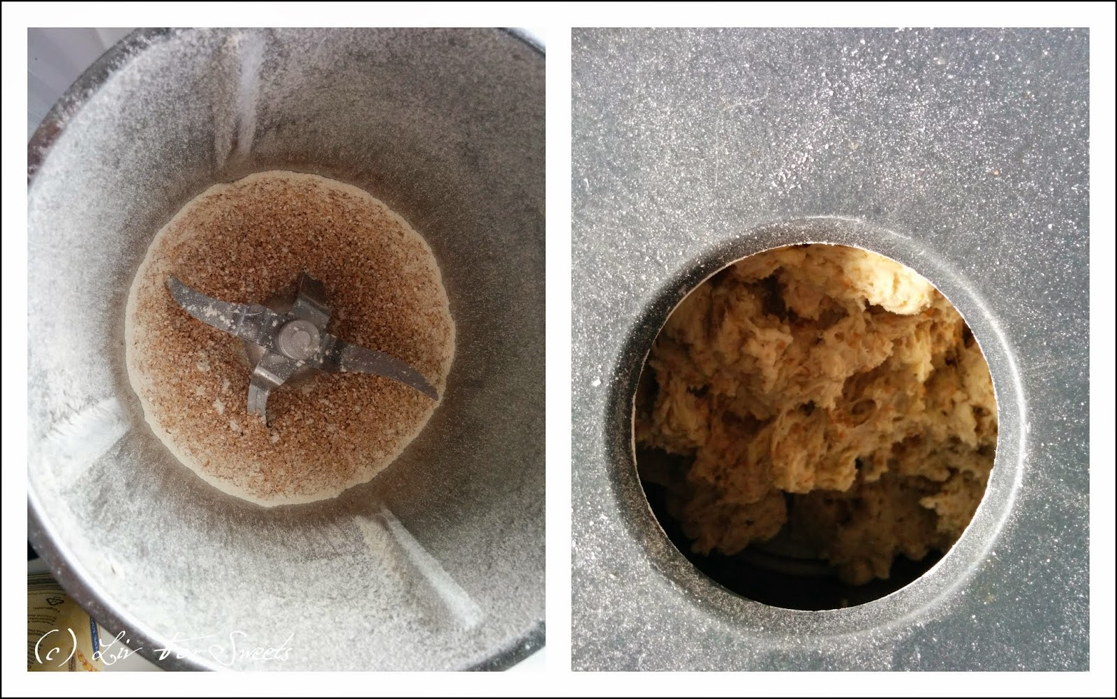 Das Getreide wurde zu Mehl gemahlen und wird nun im Thermomix TM31 zu Teig verknetet
