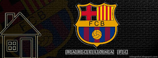 Barcelona FC Facebook Cover Black Brick