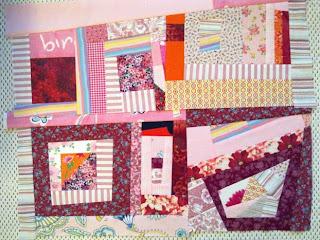 Improv quilt surface - Improvisoidusti koottu tilkkupinta
