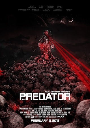 Poster Of The Predator 2018 In Hindi Bluray 720P Free Download