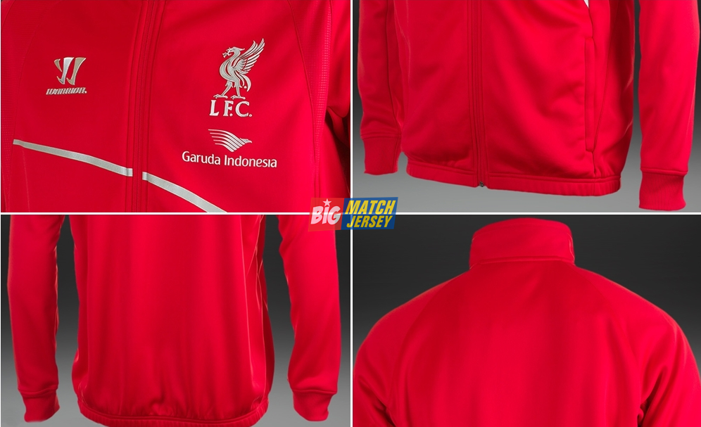 Detail Jaket Traning Liverpool Garuda Indonesia Produk Warrior Official Resmi 2014 - 2015 Red