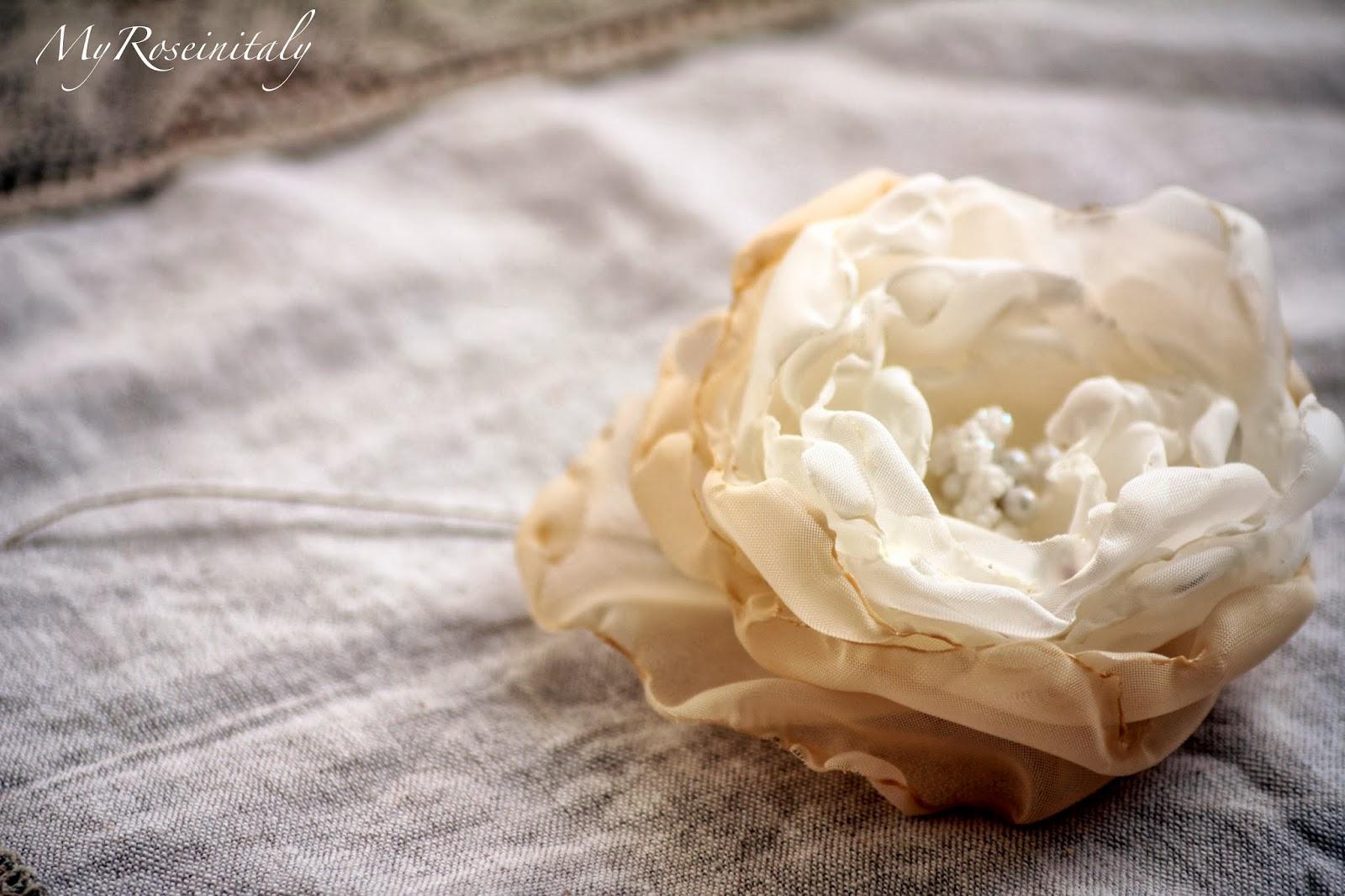 My roseinitaly tutorial fiori di stoffa for Fiori di stoffa shabby chic