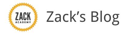 Zack Academy's Blog