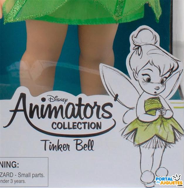 muñeca campanilla coleccion disney animators dibujo caja
