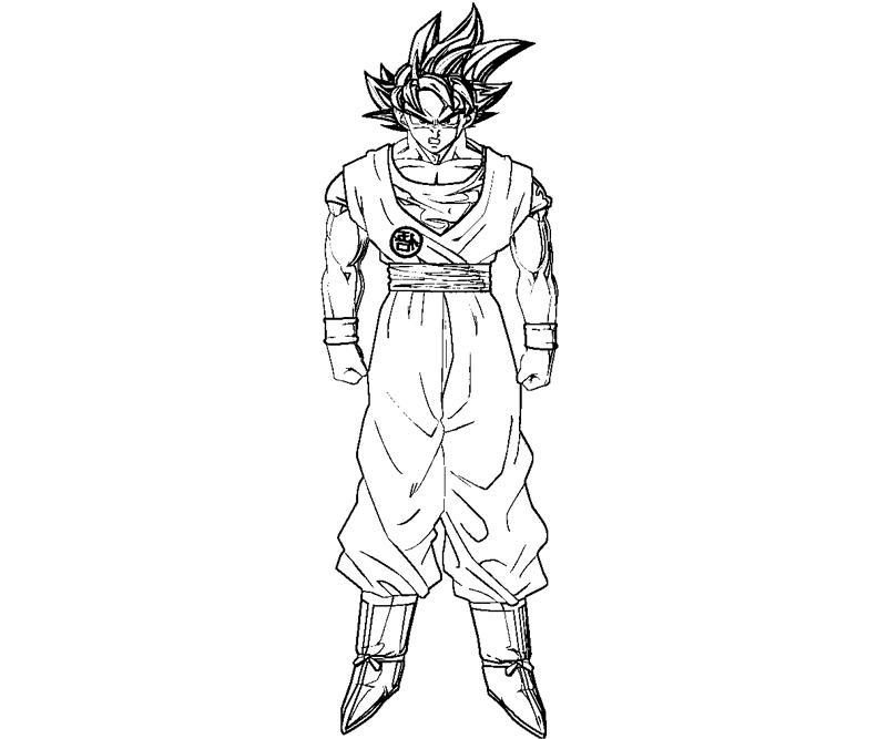 printable goku 3 coloring page - Goku Printable Coloring Pages