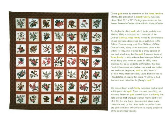 Jones Plantation Quilts Liberty County, Georgia | Civil War Quilts ... : quilting history facts - Adamdwight.com