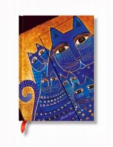 libreta gatos azules