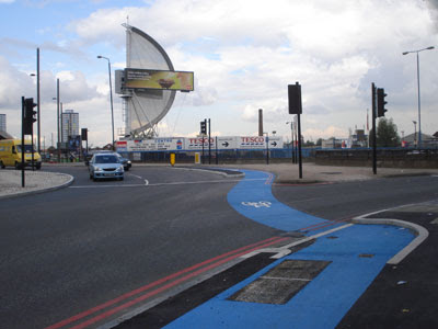 Bow Flyover roundabout