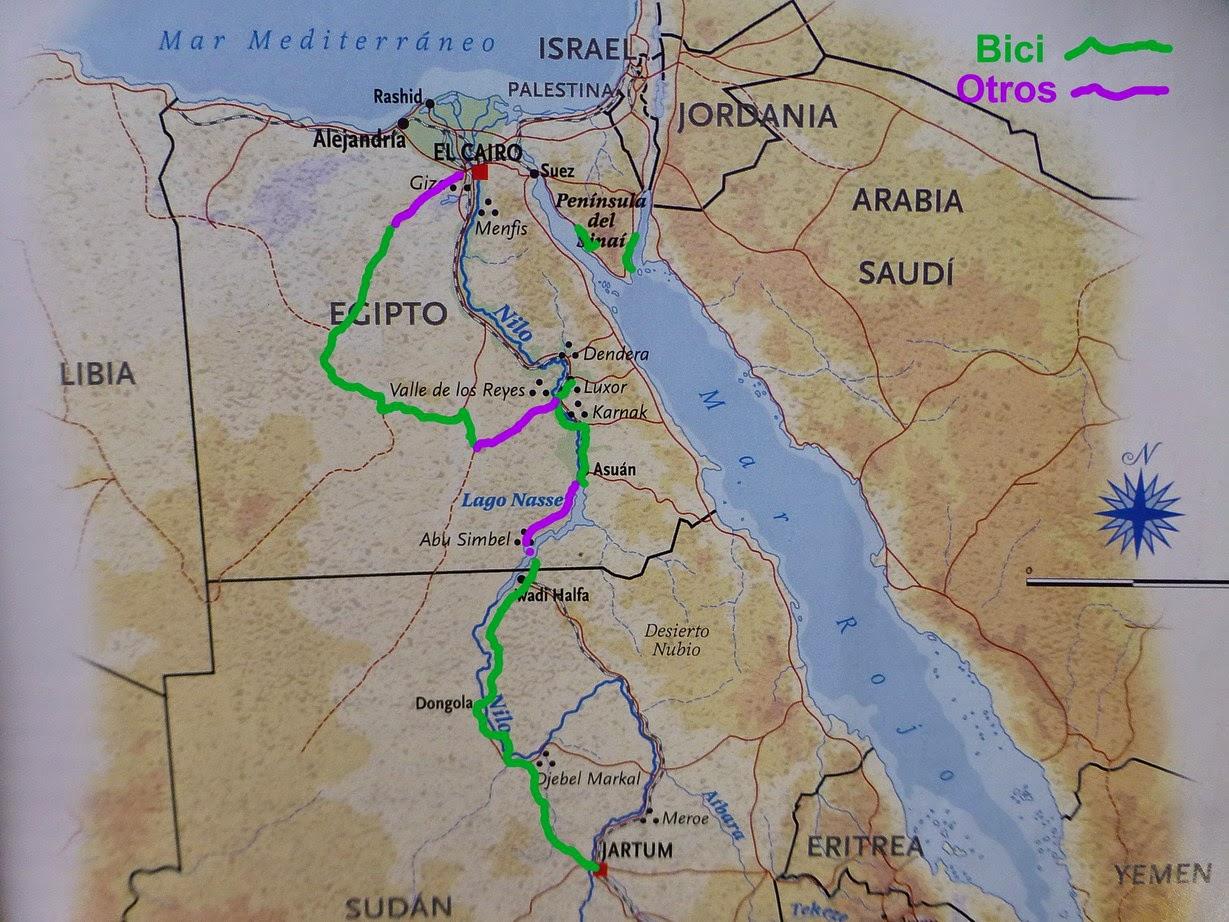Mapa del recorrido: