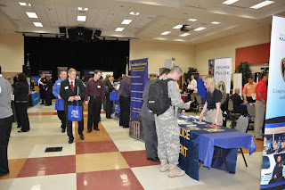 An overview shot of the 2011 Criminal Justice Career Fair, which featured 41 agencies.