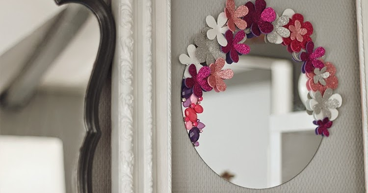 Tiboudnez diy un miroir so girly tiboudnez blog for Decouper un miroir