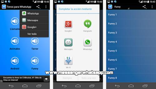Sonidos divertidos con Tonos para WhatsApp