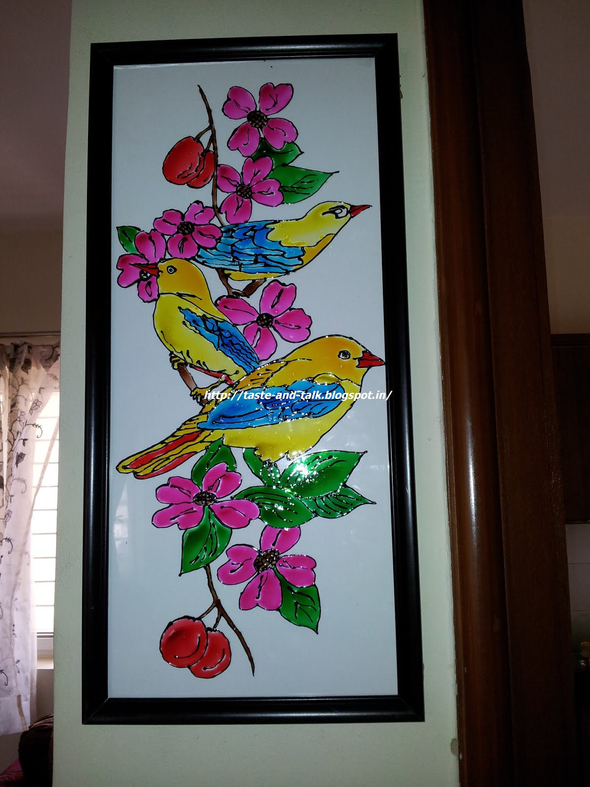 My creative space glass painting for Simple glass painting pictures