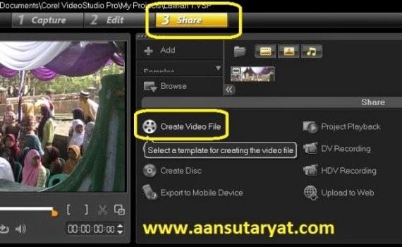 Membuat Video File Pada Corel Video Studio Pro X6