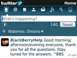Twitter for BlackBerry 1.1 beta brings Geotagging and more