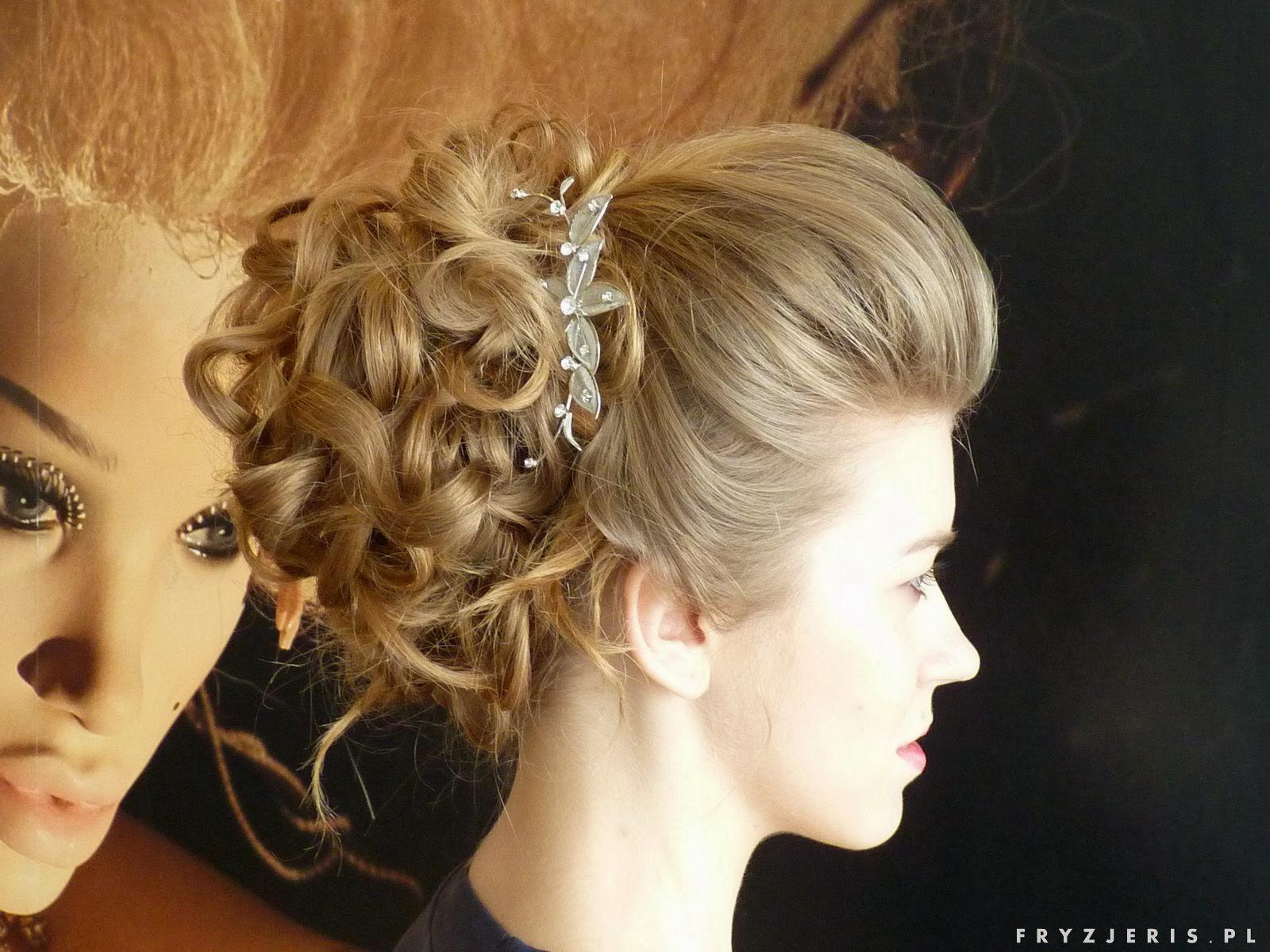 stylizacja włosów fryzura ślubna,