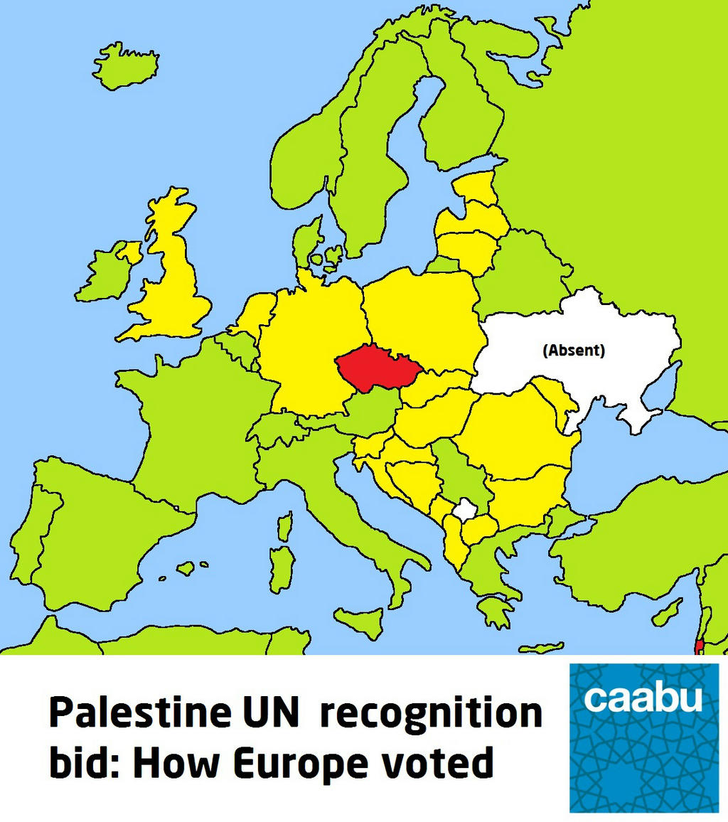 Online Maps UN Recognition of Palestine on Maps