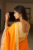 Midhuna New photo session in Saree-thumbnail-17