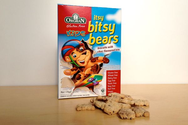 Orgran itsy bitsy bears vegan biscuits