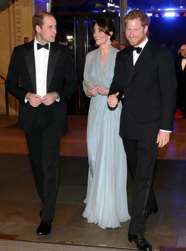 The Duke And Duchess Of Cambridge And Prince Harry Attended The Royal World Premiere Of 'Spectre'
