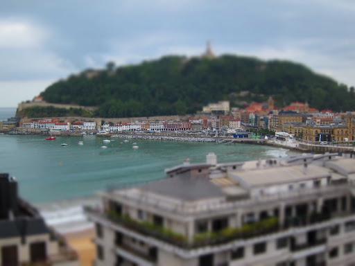 San sebastian spain basque country town water island
