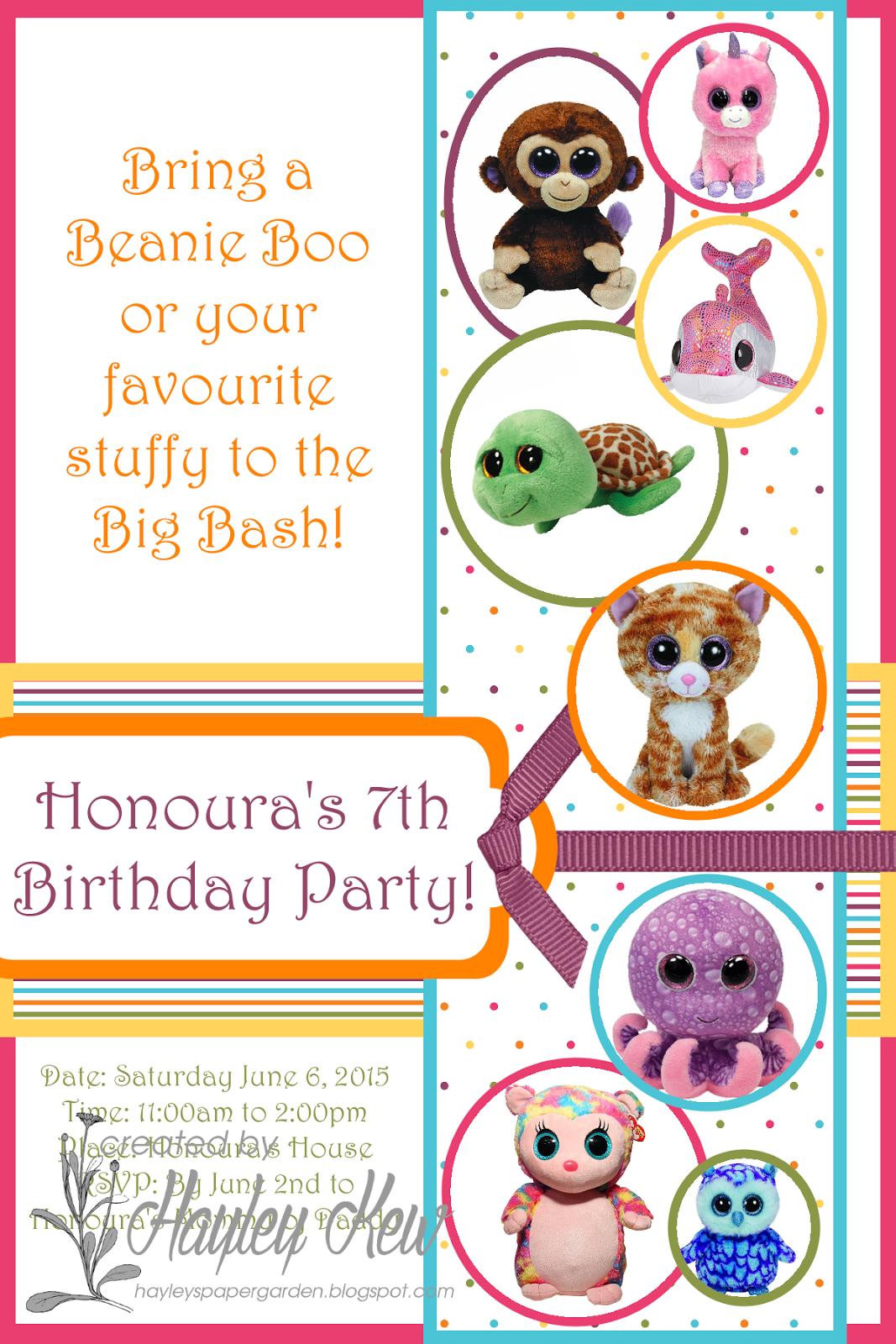 birthday invite template
