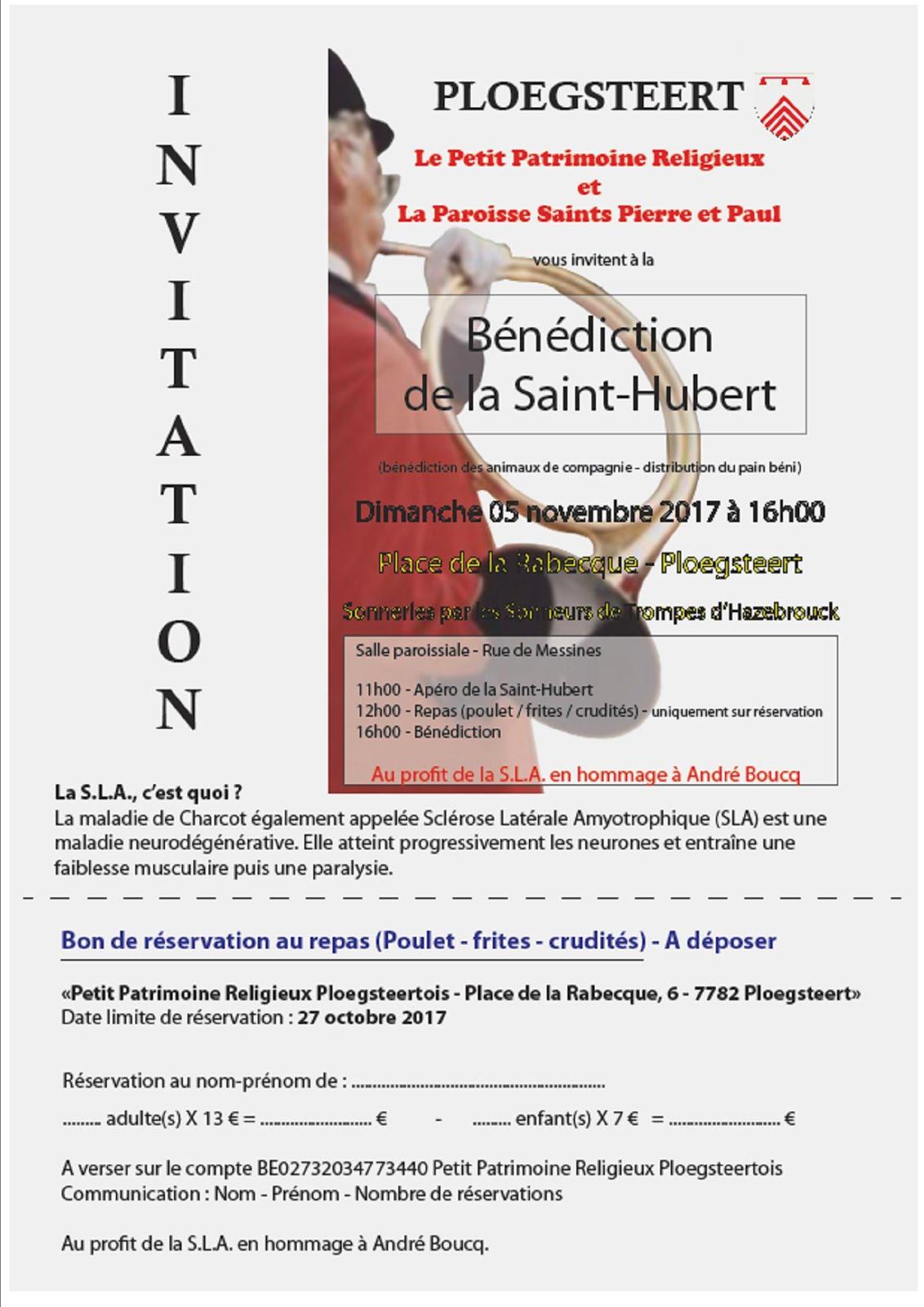 5 novembre repas et bénédictions Saint-Hubert