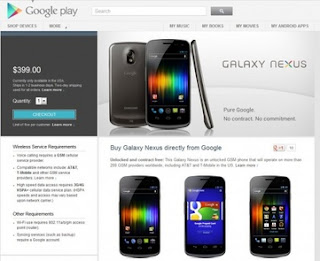 Smartphone in Play Store