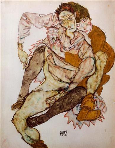 Coppia seduta Egon Schiele