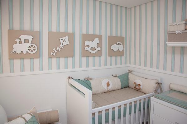 Decoracao De Quarto Verde E Branco ~ Ateli? Rocha  Artesanato Cores diferentes para quartos de beb?