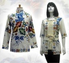Model baju batik modern 015