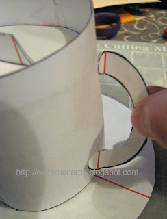 coffee cup pop up card