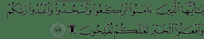 QS. Al Hajj 22:77