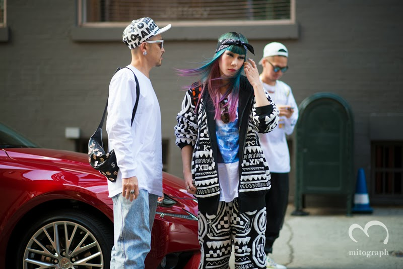 mitograph MademoiselleYulia and Joyrich Tom Hirota TakaOkude Before Hood By Air New York Fashion Week 2014 Spring Summer NYFW Street Style Shimpei Mito マドモアゼルユリア ジョイリッチ KTZ