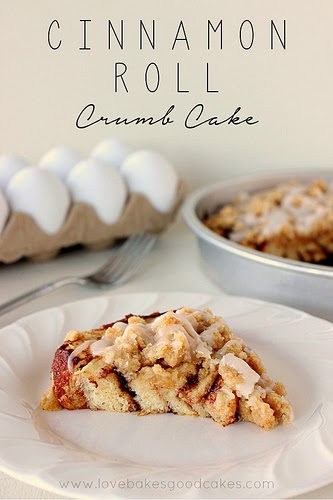 crumb cake, cinnamon roll crumb cake