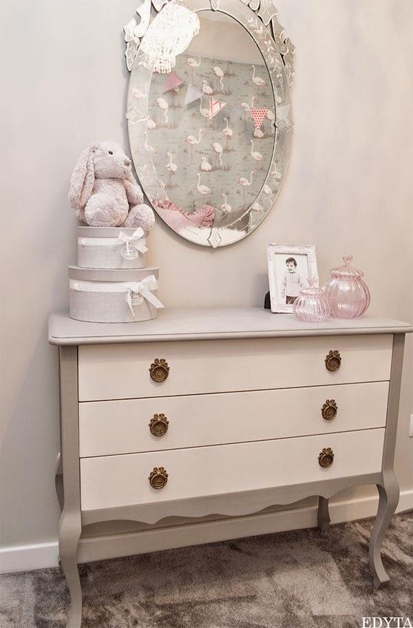 Un Dormitorio Infantil En Rosa Gris Y Blanco 183 A Girly