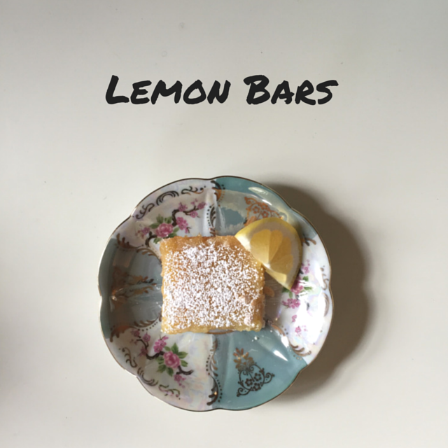 Tasty Tuesday, Lemon Bars, Dessert, Recipe