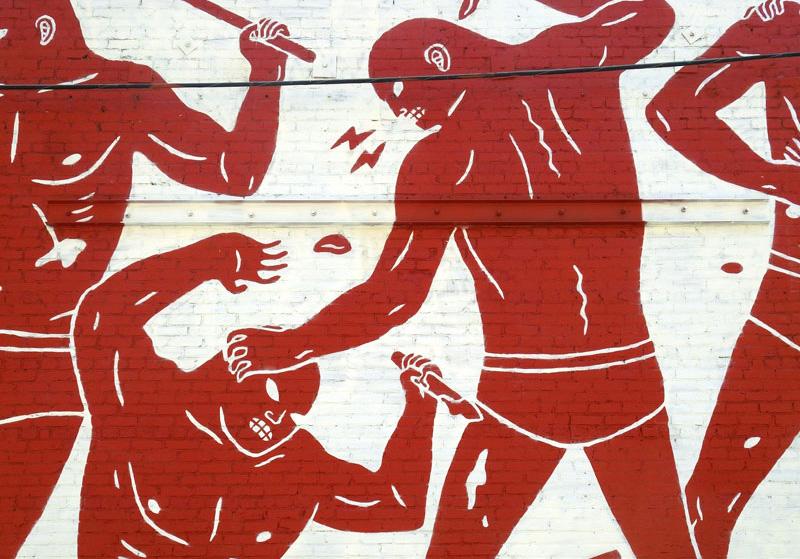 pintura mural de Cleon Peterson