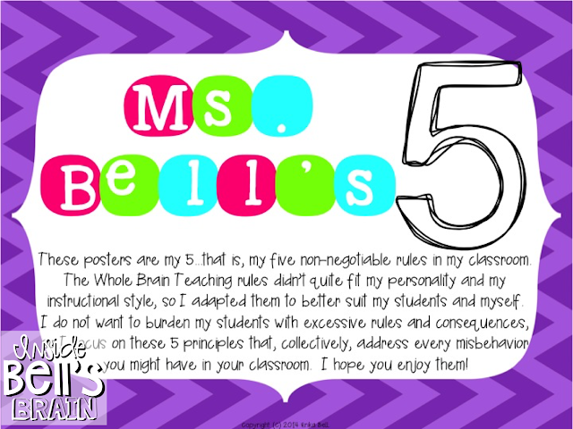 https://www.teacherspayteachers.com/Product/Ms-Bells-5-Posters-for-My-Classroom-Rules-1327560