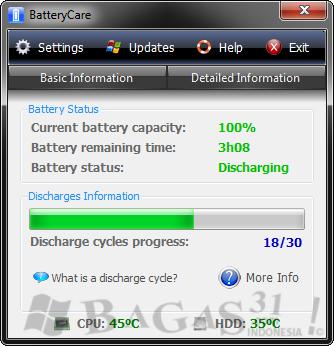 BatteryCare - Penghemat Battery Laptop 2