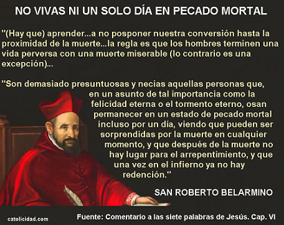 SAN ROBERTO BELARMINO DIXIT: