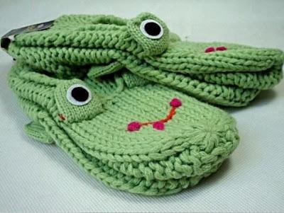 Żaba na pantoflach Eco Manufaktura