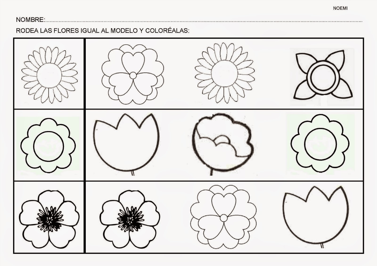 Esos locos bajitos de infantil fichas de flores - Fichas de plantas para ninos ...