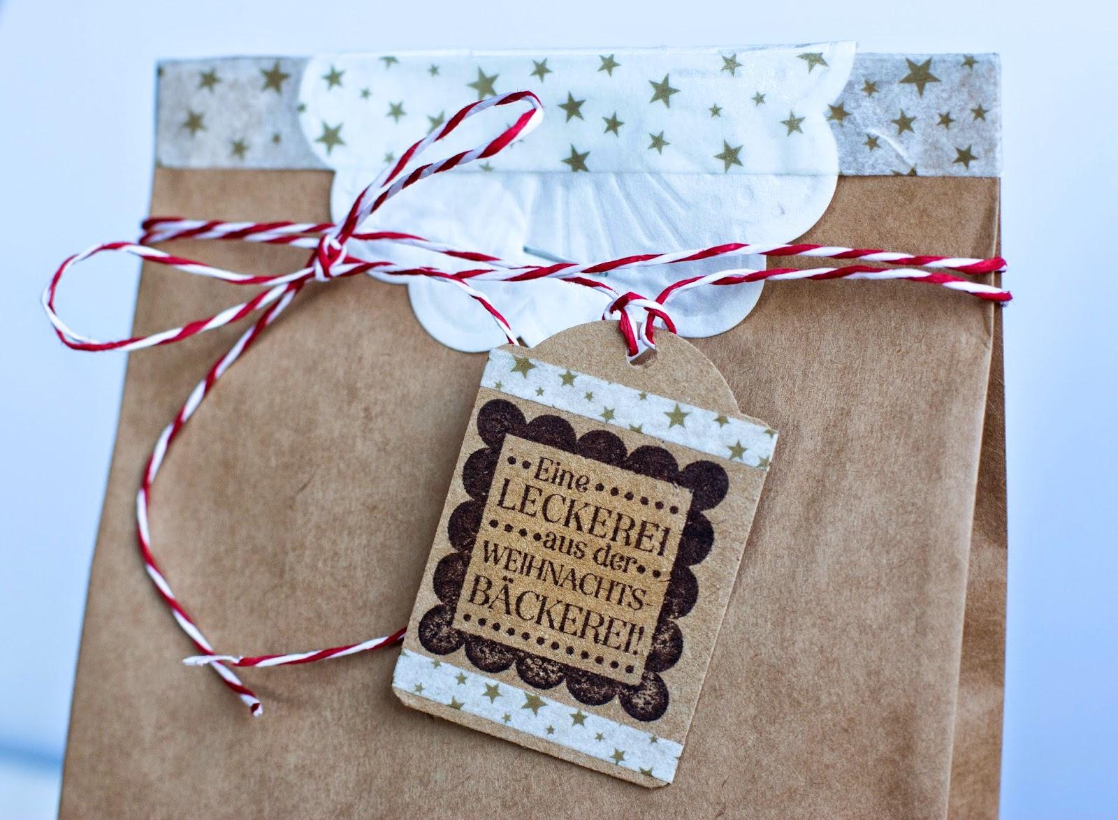 Stampin up, Cookies verpacken, Cookie Verpackung, Tüte, Stempel, stempeln, Weihnachtsbäckerei, Eine Leckerei, selber machen, basteln, Weihnachten