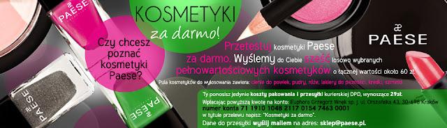 Kosmetyki za darmo - Akcja PAESE + Blog Day + Obserwatorzy + egzamin