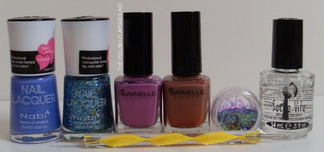 Nabi, Barielle, Born Pretty Store Round Glitter, Seche Vite, dotting tool