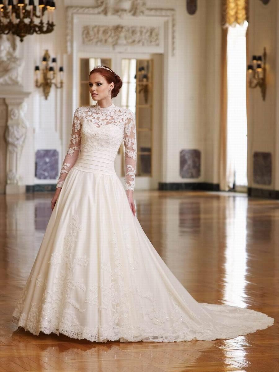 Wedding Gowns W Sleeves - Overlay Wedding Dresses