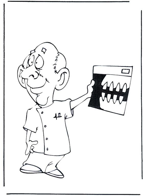COLOREA TUS DIBUJOS: Dentista con lamina de Rayos X