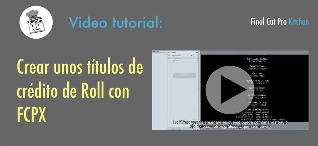 roll credits fcp x tutorial