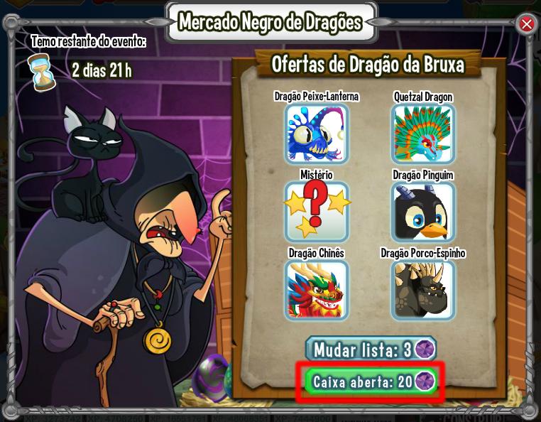 Dragon City BR: Evento Mercado Negro de Dragões (Dragon city)